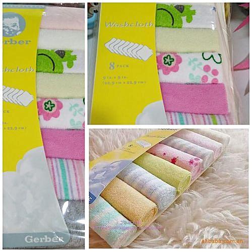 ec8cd723f7a5 GERBER 8 Pieces Assorted Colours Newborn Baby Bath Towels @ Best ...