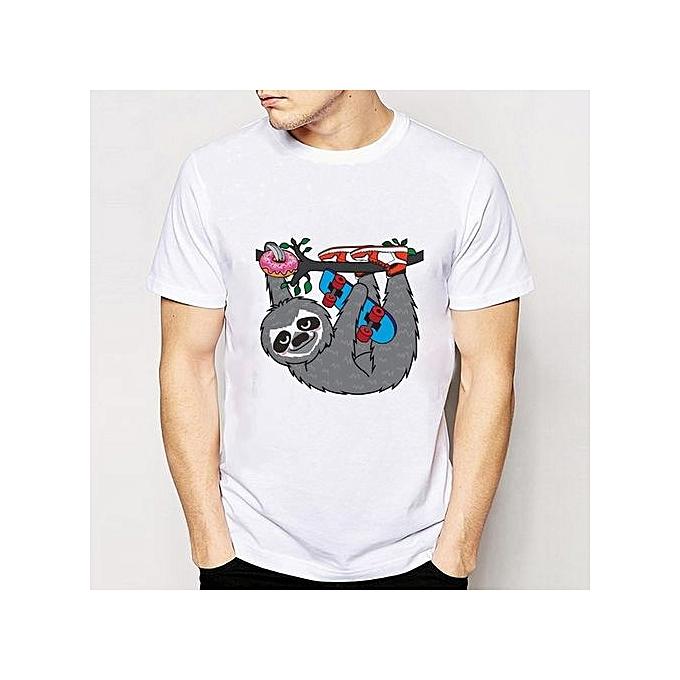 b3e55a8f3c 2017 Summer Men s Fashion Cute Animal Print Tshirt Short Sleeve Casual  Tshirt Size S-XXXL