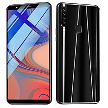 "Smart Phone 6.1 Inch Andriod Smartphone 4RAM+64GBROM Full Screen 6.1"" HD True Fingerprint Face Recognition Mobile Phone-black"