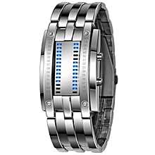 Luxury Men's Stainless Steel Date Digital LED Bracelet Sport Watches SL