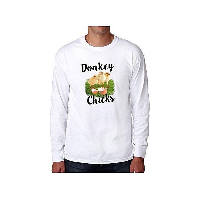 c87107a74 Fashion Donkey Chicks Long Sleeve Cool Men T-Shirt @ Best Price ...