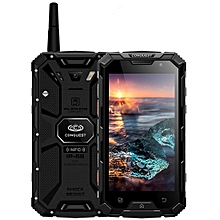 Conquest S8+, 4GB+64GB, Walkie Talkie Function, 6000mAh Battery, IP68 Waterproof Dustproof Shockproof Anti-pressure Explosion-proof, Fingerprint Identification, 5.0 inch Android 6.0 MTK6755 Octa Core up to 2.0GHz, Network: 4G, NFC, OTG, IR(Black)