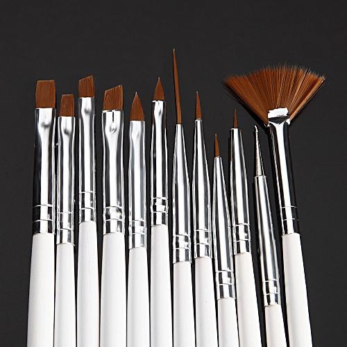 Buy Zlime 12pcs Uv Gel Acrylic Nail Art Brush Set Builder Painting