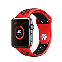 Two-Colored Silica Gel Lightweight Watch Band Sport Breathable Watch Strap For Apple Watch 4/3/2