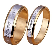 Love Ring Engagement Engraving Couple Promise Gold Plated
