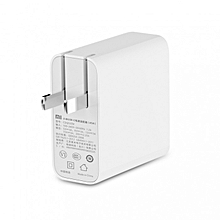 PD 2.0 USB Type-C Power Adapter Charger 45W Quick Charge 3.0 Gift Cable US Plug - White