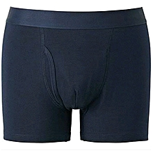 Men Casual Cotton Fitting Boxers (Navy blue)