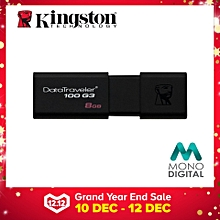 Kingston 8GB DataTraveler 100 G3 USB 3.0 Flash Drive (DT100G3/8GBFR) (Not Specified) LJMALL