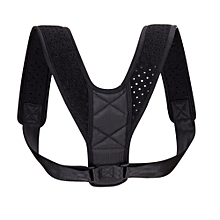 Adjustable Shoulder Brace Belt Posture Corrector - Black