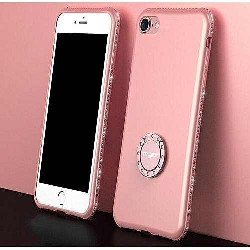 cheap for discount f1909 911f7 IPhone 8 Case, Phone Case, Bling Sparkly Diamond Rhinestone Kickstand Ring  Holder Slim Protective Phone Cover For Apple IPhone 8 - Rose Gold
