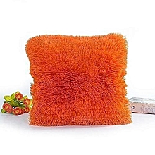 Fluffy Throw Pillow/ Seat Pillow, 18*18 - Orange