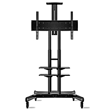 "TS1881 - 55"" - 80"" - Universal Mobile TV Cart TV Stand for LED LCD Plasma & Curved Displays - Black"
