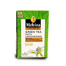 Melvins Green Tea with Lemon Grass 25 enveloped and tagged tea bags 50 g