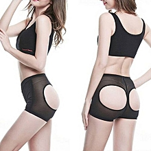 LOVER-BEAUTY Sexy Women Shapers Panty Slim Boyshort Underwear Booty Lifters Butt Enhancer Shorts Pants Trainers Butt Lifters Black