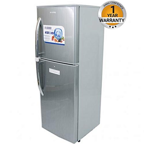 BRD185 - Double Door Refrigerator - 6.5Cu.Ft - 184 Litres - Silver