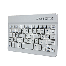 Ultra Slim Aluminum Wireless Bluetooth Keyboard For IOS Android PC-White