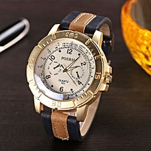 High-grade Luxury Men's Watches Analog Quartz Faux Leather Sport Wrist Dress Watch Sweety
