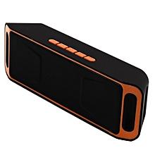 cdf3d660ebe Mini Wireless Bluetooth Speaker USB FM Radio Stereo Super Bass MP3 Player  Orange
