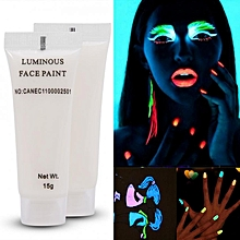 Color Photoluminescent Glow Bright For DIY Body Art Paint Printing Sky Blue