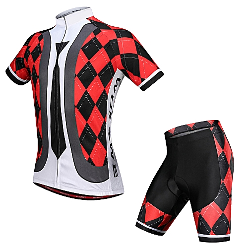 Generic Men s Cycling Jersey Set Breathable Quick-Dry Short Sleeve Biking  Shirt with Gel Padded Shorts MTB Bike Cycling Clothing Set fb097eca7