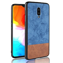 "OnePlus 6T Case,Ultra-Thin Multi-Layer Hybrid PU Leather TPU Bumper PC Hard Anti-Slip Shockproof Protective Cover for OnePlus 6T 6.41"" -Blue+Brown"
