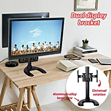 Dual Monitor Arm Table Desk Mount Stand/For 2 LCD Fully Adjustable upto 27''