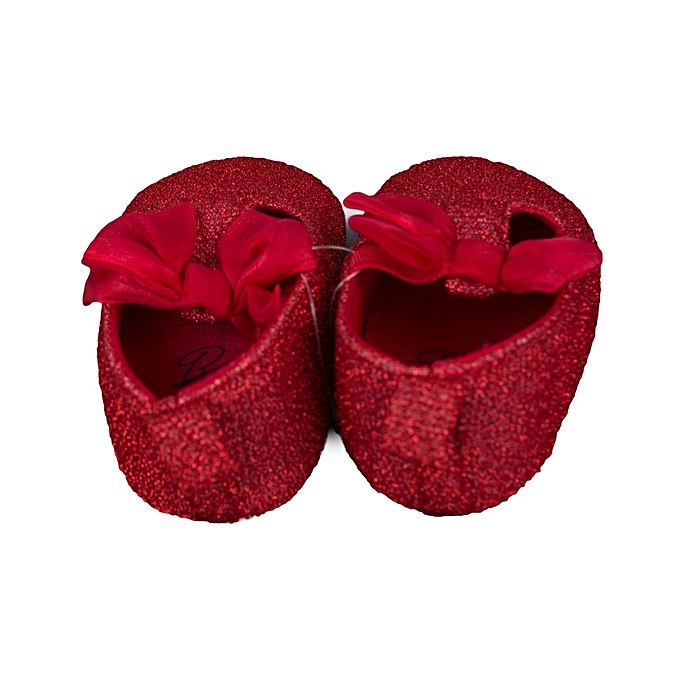 8462fe9c9b1 ... Fashion Baby Girls Leather Prewalkers Soft Bottom Shoes Glittery Red ...