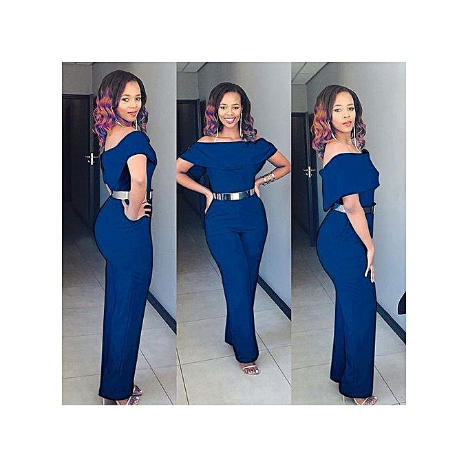 c1f68a442bb Fahionable Women Ladies Clubwear Summer Playsuit Bodycon Party Jumpsuit  Romper Trousers-blue