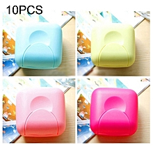 10 PCS Home Travel Soap Box Lock Sealed Waterproof Leakproof Soap Holder Case with Cover Soap Dishes Container,Random Color Delivery,Small,Size:7*7*4cm