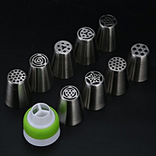 9pcs/set Russian Icing Piping Nozzle Decorating Nozzle Cake Cupcake Pastry