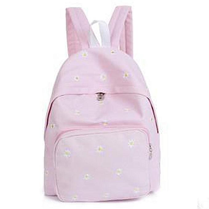 Women Teenage Girl Boy Solid Zipper Backpack School Bags Fashion Shoulder  Bag 6a6e5168ced23