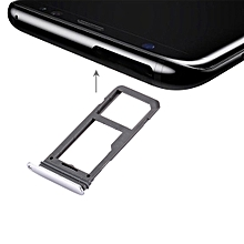 SIM Card Tray + Micro SD Tray for Galaxy S8(Silver)