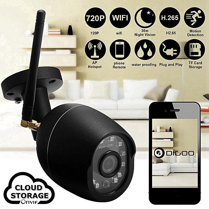Digoo DG-W01f 720P Cloud Storage Waterproof Outdoor WiFi Security IR IP  Camera