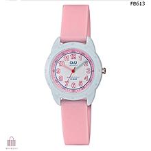 Girls Pink Q&Q watch