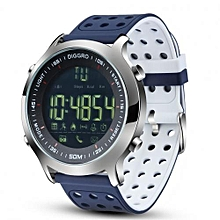 """DI04 - 1.12"""" Smart Watch For Android/iOS 128MB/128MB 210mAh Pedometer - Blue+White"""