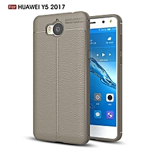 PU Leather Litchi Pattern Case For Huawei Y5 2017 Soft TPU Silicone Back Cover For Huawei Y52017 Phone Case