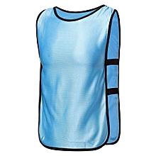 SPORTS Soccer Football Basketball TRAINING Bibs Vest Netball Hockey Adult Light Blue NEW