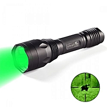 H-R3 Cree XP-E2 1 Stalls Green Flashlight - Black