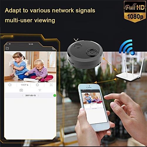 Portable Mini Camera Wireless Wifi IP Security Camcorder HD 1080P Car Home  CMOS Sensor Night Vision Camcorder( 0GB)( )