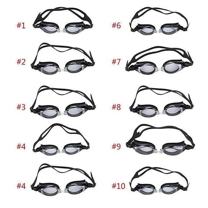 5db94b84e1f ... Black Nearsighted Anti-fog Adult And Children Swim Goggles ( 8) ...