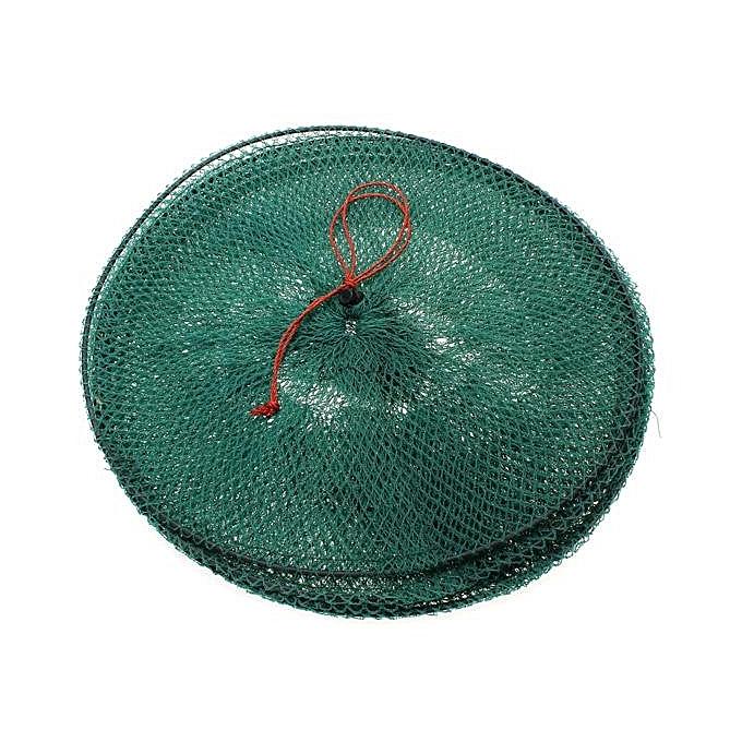 ... Folding Round Metal Frame Nylon Mesh Crab Fish Fishing Landing Net-Green 5 ...