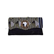 African Clutch Purse - Black