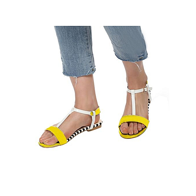 44d797a49188 Jiahsyc Store Women Summer Round Toe Breathable Peep-Toe Beach Sandals Rome  Casual Flat Shoes