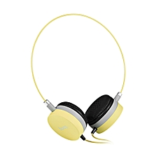 W3 Colorful Stereo Wired 3.5MM Headset Headphones-YELLOW