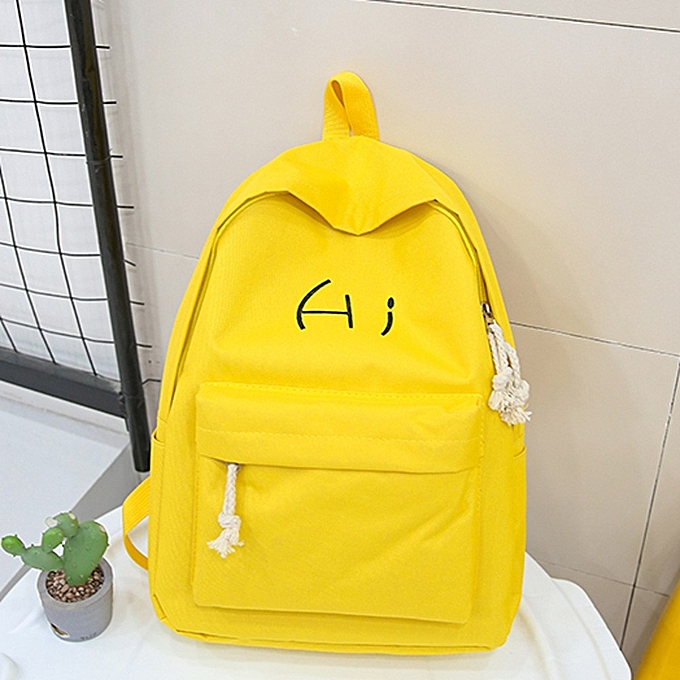 1eea0aa4e035 ... koaisd Unisex Canvas Letter Backpack Outdoor Travel Backpack Student Bag  ...