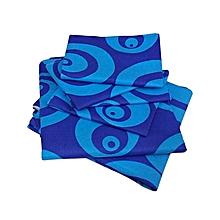 6Pc Flat Bedsheet Set - Blue & Light Blue Multicoloured