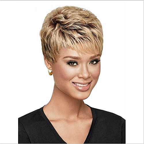 Generic Women s Short Blonde To Brown Wavy Wigs With Wig Cap   Best ... c20324fba