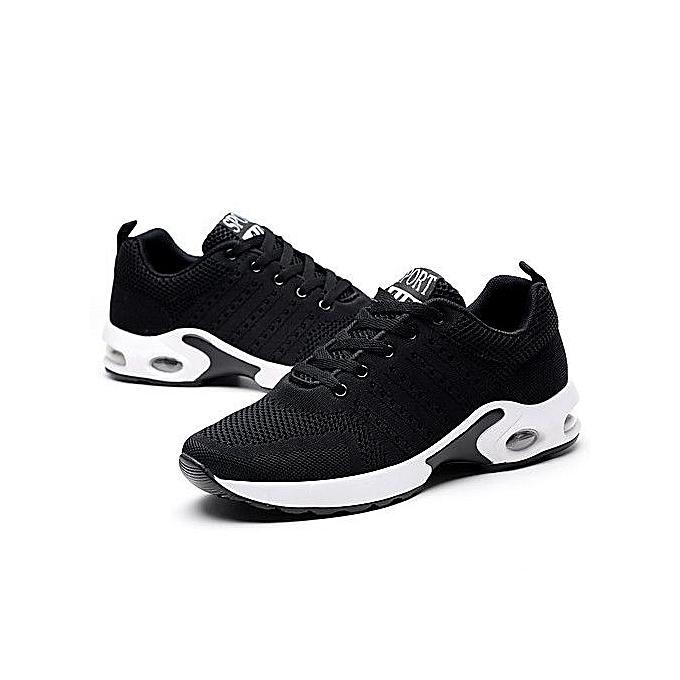 course de de Hommes Respirant Sport Casual noir tricot Mode Ligne Sneakers Chaussures 0FqwH6w48