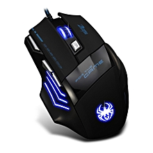 T-80 Gaming Mouse 7200 DPI Backlight Multi Color LED Optical 7 Button Mouse Gamer USB Wired Gaming Mouse for Pro Gamer