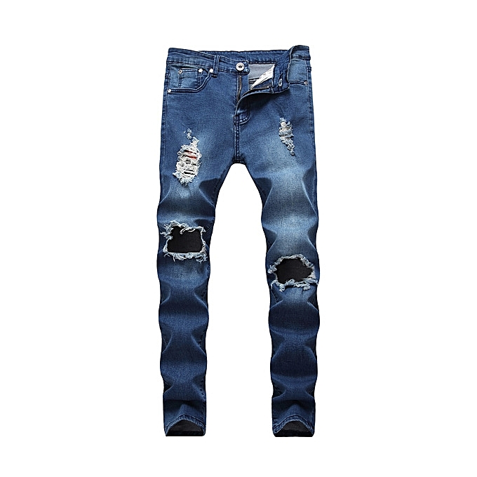 d007f1b8 Generic Great Men's ripped jeans Fashion Denim trousers Boy Skinny ...